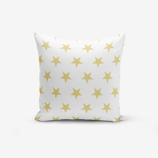 Față de pernă cu amestec din bumbac Minimalist Cushion Covers Mustard Color Star, 45 x 45 cm