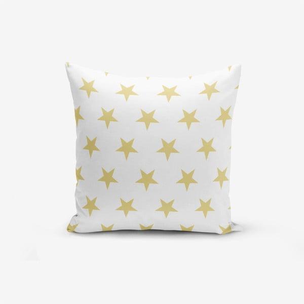 Mustard Color Star pamutkeverék párnahuzat, 45 x 45 cm - Minimalist Cushion Covers