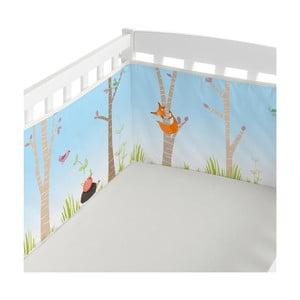 Textilní ohrádka na postýlku Little W Brave, 210 x 40 cm