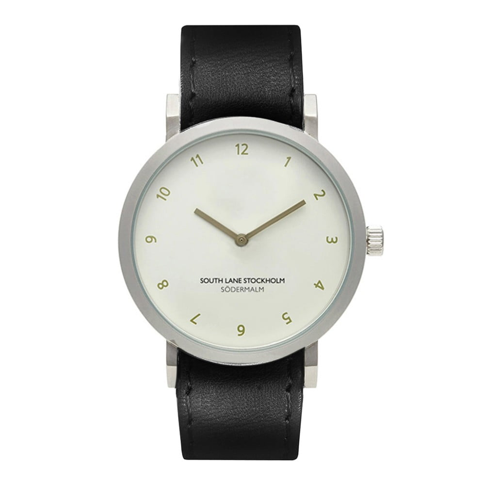 Unisex hodinky s černým řemínkem South Lane Stockholm Sodermalm Simplicito Leather