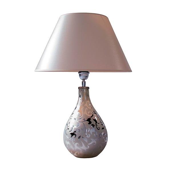 Stolní lampa Bílá a stříbrná