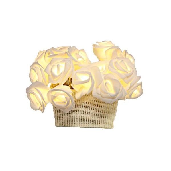 Světelný LED řetěz Best Season White Roses