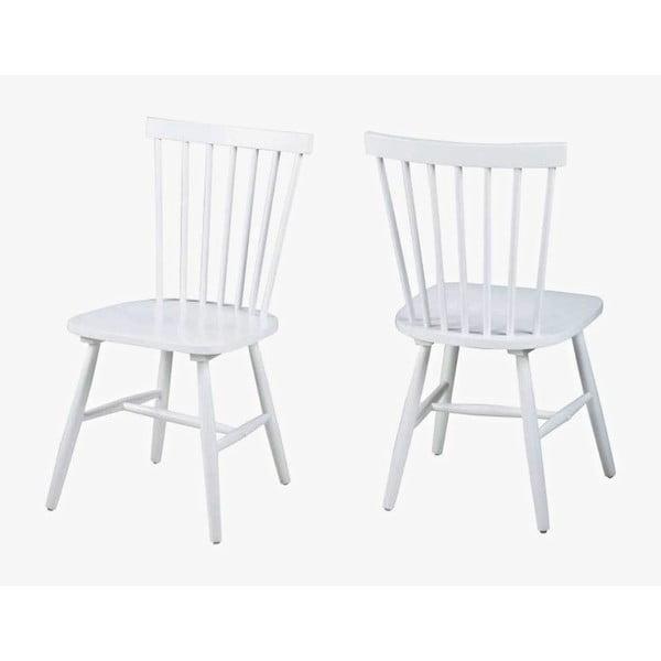 Bílá jídelní židle Actona Riano