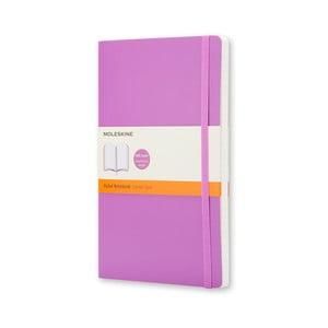 Fialový zápisník Moleskine Soft, velký, linkovaný