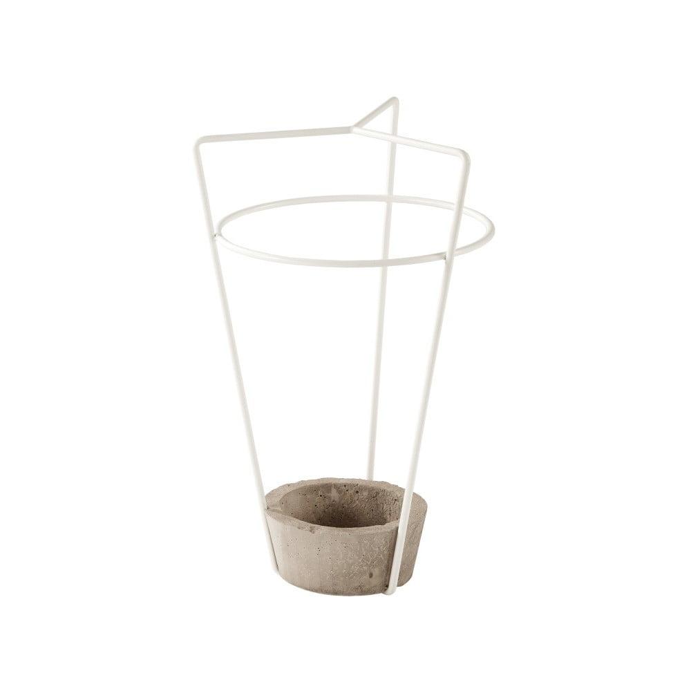 Bílý stojan na deštníky s betonovou konstrukcí MEME Design Ambrogio