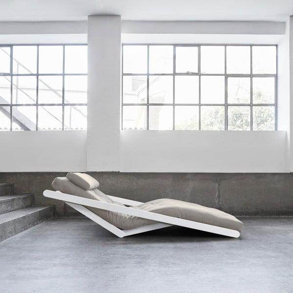 Dvoumístná variabilní lenoška Karup Figo White/Vision
