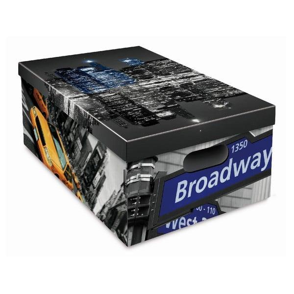Sada 3 úložných krabic Ordinett New York
