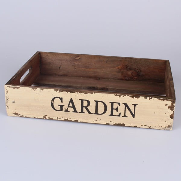 Dřevěný tác Brown Garden, 39x27 cm