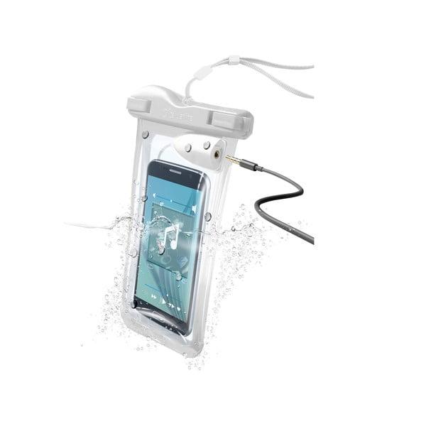 Voděodolné univerzální pouzdro Cellularline VOYAGER MUSIC, bílé