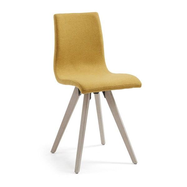 Hořčicově žlutá jídelní židle La Forma Una