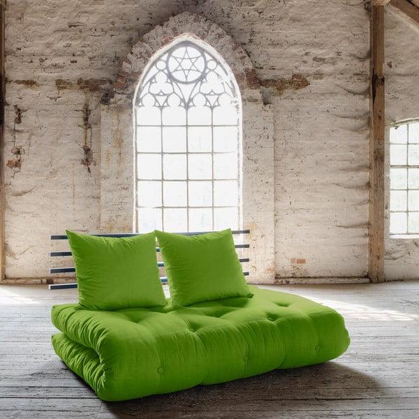 Canapea extensibilă Karup Shin Sano Black/Lime