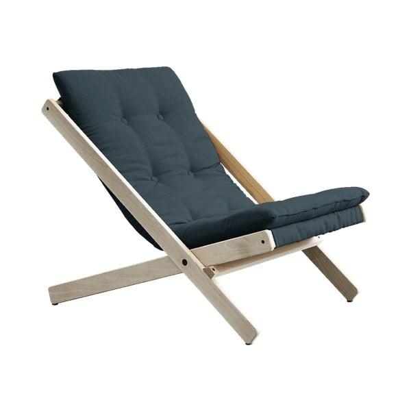 Boogie Raw/Petrol Blue kék összecsukható bükkfa fotel - Karup Design