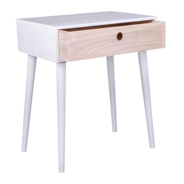 Dřevěný odkládací stolek se zásuvkou House Nordic Parma