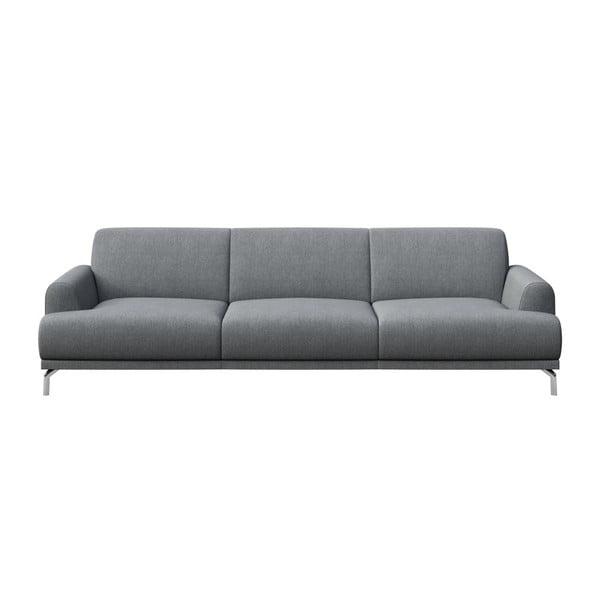 Canapea cu 3 locuri MESONICA Puzo, gri deschis