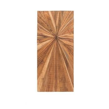 Decorațiune din lemn pentru perete WOOX LIVING Sun, 100 x 45 cm imagine