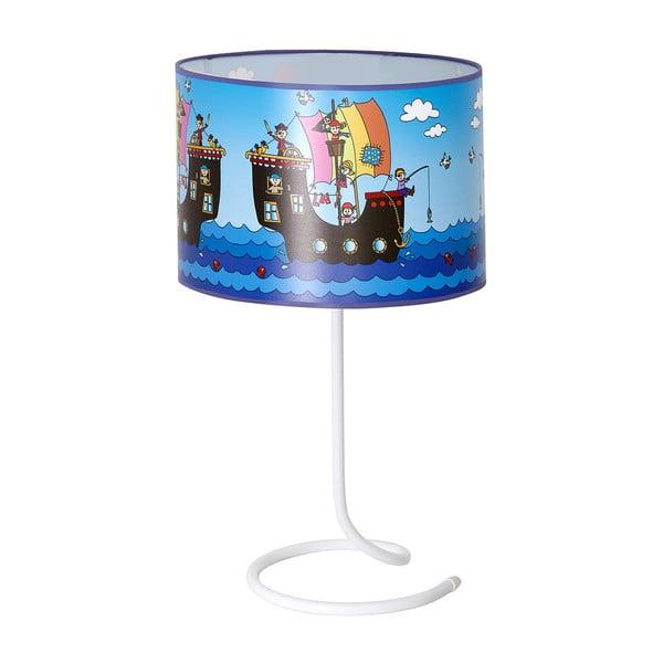 Dětská stolní lampa Glimte Pirates Blue