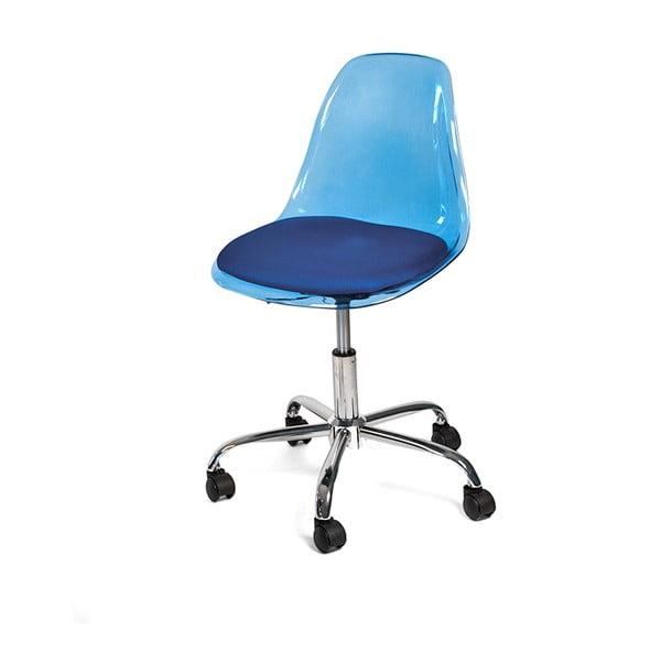 Pracovní židle na kolečkách Plato, modrá