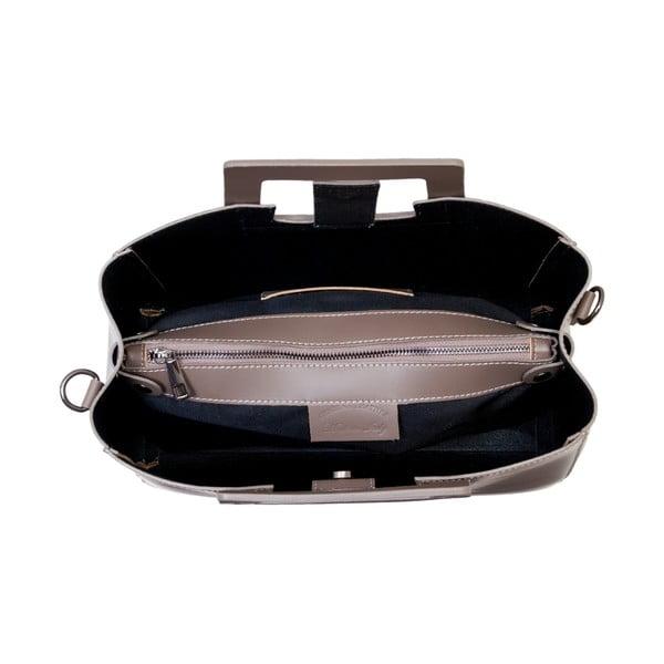 Béžová kabelka z pravé kůže Andrea Cardone Pietro