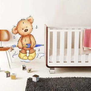 Samolepka na stěnu Rainy Teddy, 70x50 cm