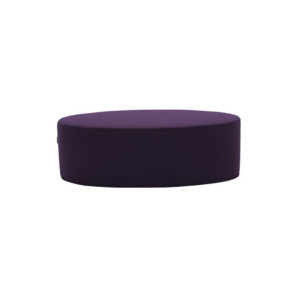 Tmavě fialový puf Softline Bon-Bon Eco Cotton Dark Lilac, délka 100 cm