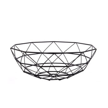 Fuctieră PT LIVING Diamond, ⌀ 35 cm, negru imagine
