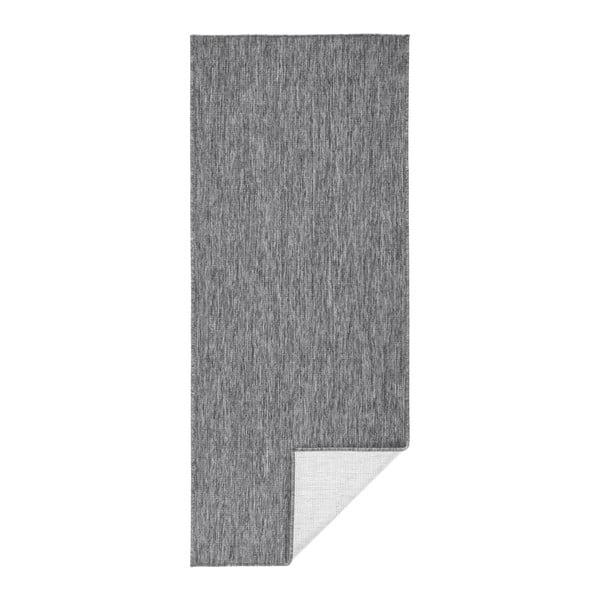 Covor adecvat pentru exterior Bougari Miami, 80 x 250 cm, gri