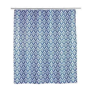 Perdea de duș Wenko Lorca, 180 x 200 cm, albastru imagine