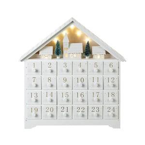 Adventní kalendář s LED osvětlením Parlane, výška 36 cm