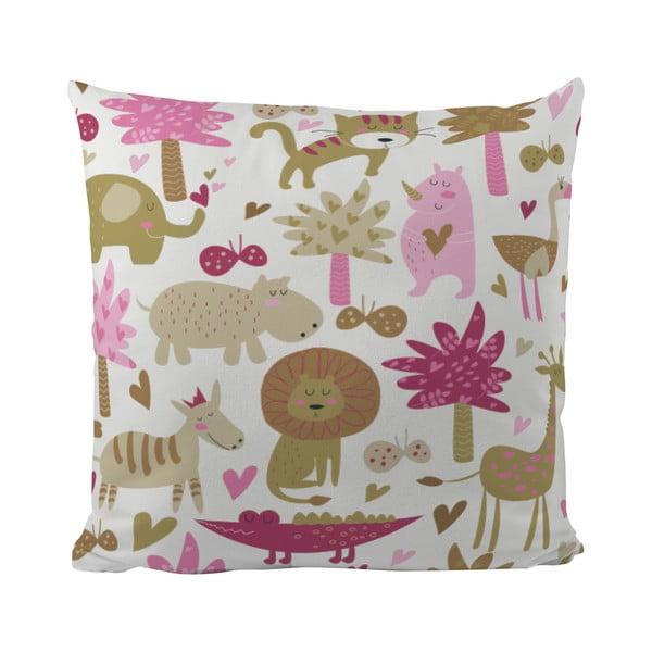 Polštář Pink Safari, 50x50 cm