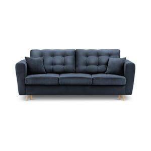 Modrá rozkládací pohovka súložným boxem Kooko Home Highlife