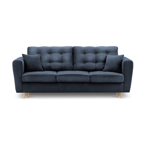 Canapea extensibilă cu spațiu de depozitare Kooko Home Highlife, albastru