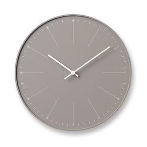 Béžové nástěnné hodiny Lemnos Clock Dandelion,⌀29cm