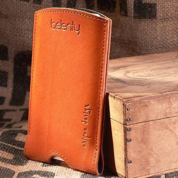 Kožený obal na HTC One M8 Cognac