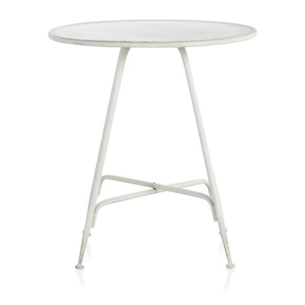 Masă de bar din metal Geese Industrial Style, înălțime 75 cm, alb
