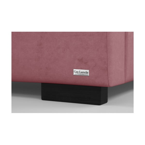 Růžová dvoulůžková postel s úložným prostorem Guy Laroche Home Poesy, 140x200cm
