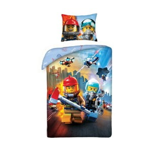 Dětské bavlněné povlečení Halantex Lego City II, 140 x 200 cm