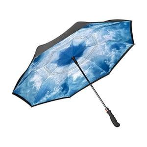 Modrý golfový deštník Von Lilienfeld Hamburg Sky FlicFlac