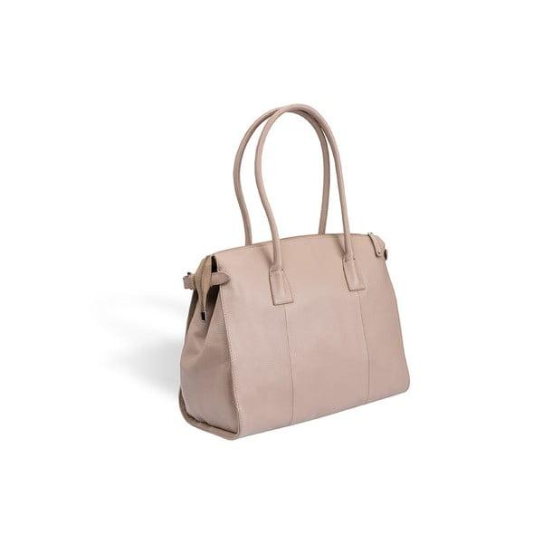 Kožená kabelka Valentini 427, béžová