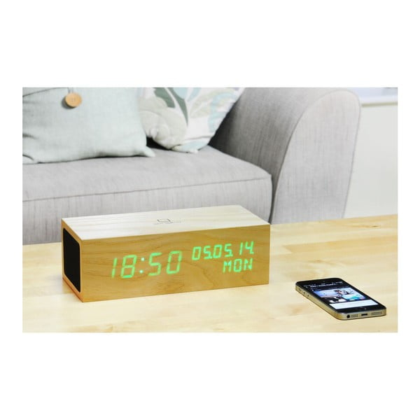 Reproduktor Click Clock se zeleným LED budíkem