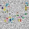 Omalovánka OMY Keith Haring XXL (180 x 100 cm)
