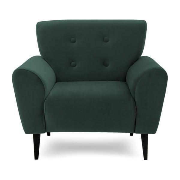 Szmaragdowy fotel Vivonita Kiara