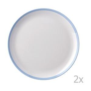Sada 2 talířů s modrým okrajem Rosti Mepal Flow,23cm
