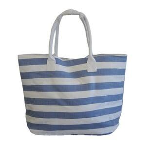 Plážová taška Stripes, bílo - modrá