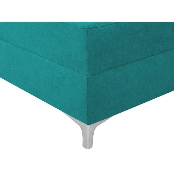 Tyrkysová rozkládací rohová pohovka Windsor & Co Sofas Zeta, levý roh