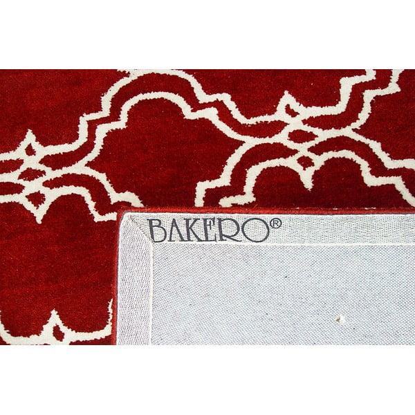 Červený vlněný koberec Bakero Riviera, 244x153cm