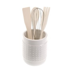 Set 4 bílých kuchyňských nástrojů se stojanem Versa Con