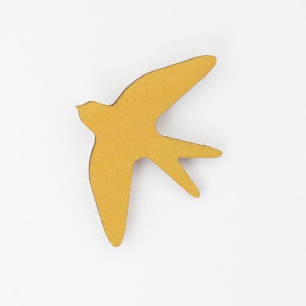 Brož SNUG.Bird Mustard