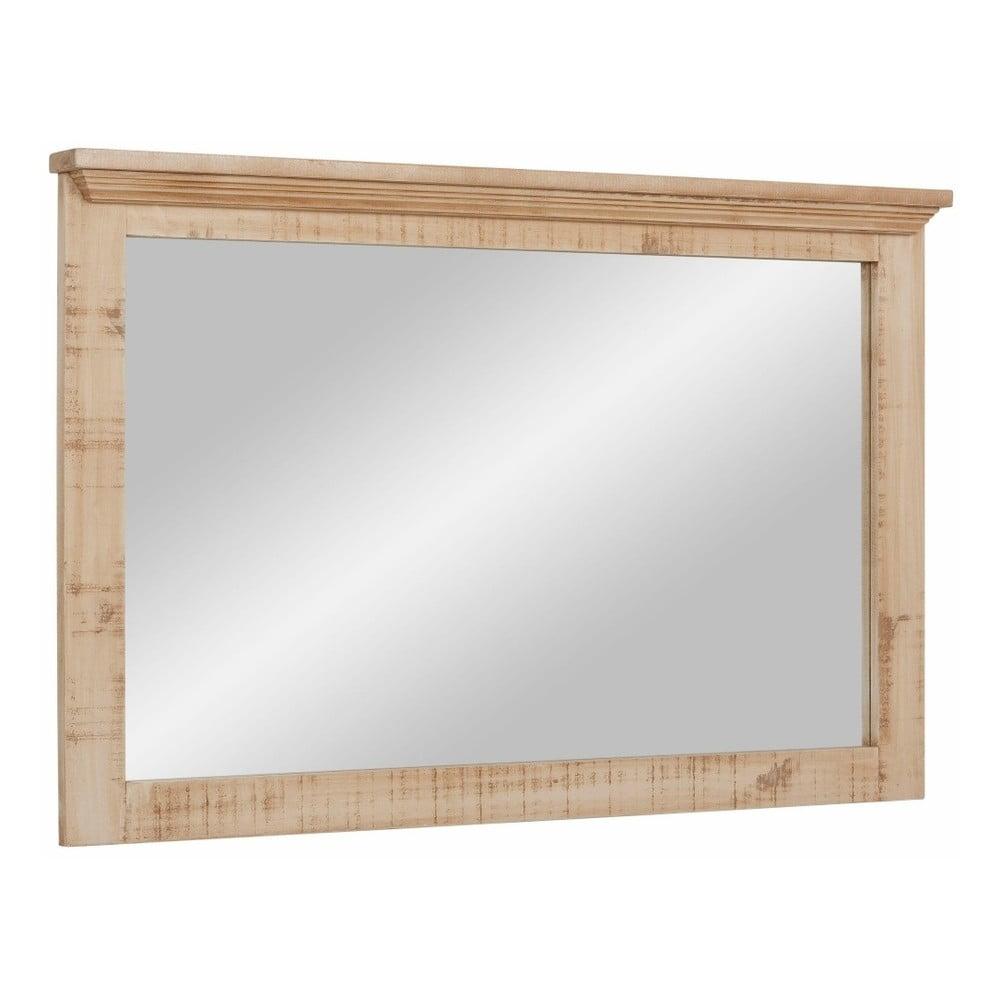 Krémové zrcadlo z masivního borovicového dřeva Støraa Marilyn