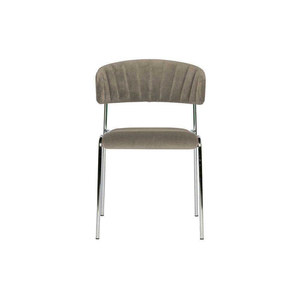 Sada 2šedých jídelních židlí BePureHome Twitch Velvet