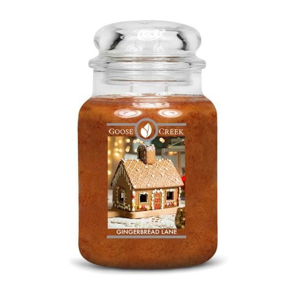 Lumânare parfumată în recipient de sticlă Goose Creek Gingerbread Lane, 150 ore de ardere